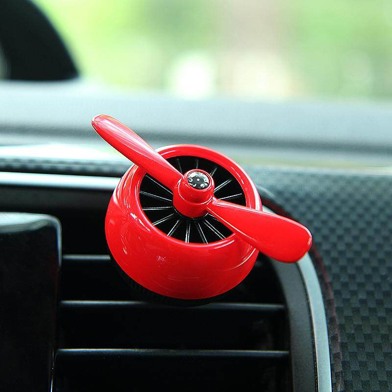 【SUN】Car Perfume Auto Air Conditioner Outlet Aromatherapy Fan - intl