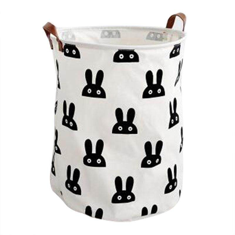 can stand canvas Laundry basket(Small rabbit)40*50cm