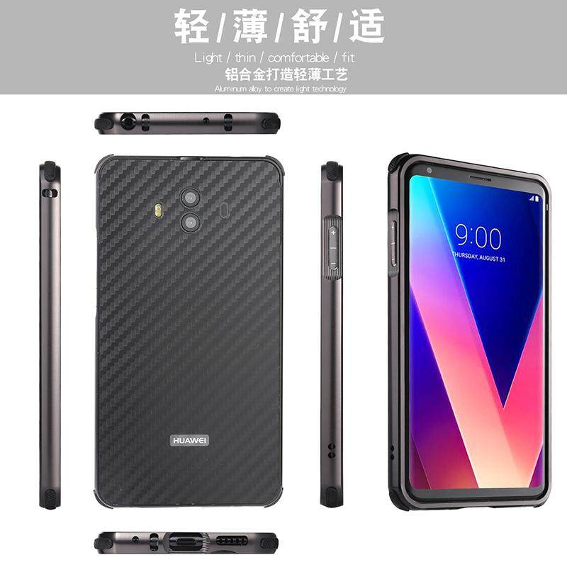 Detail Gambar Luxury Metal Case For LG V30 Aluminum Frame & Carbon Fiber Back Cover Shockproof Shell Capa Mobile Accessories Phone Cases Terbaru