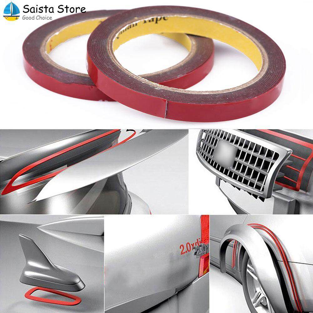10mm Width Inner Brown Car Auto Van Double Sided Sticker Rubber Glue Tape By Saista Store.
