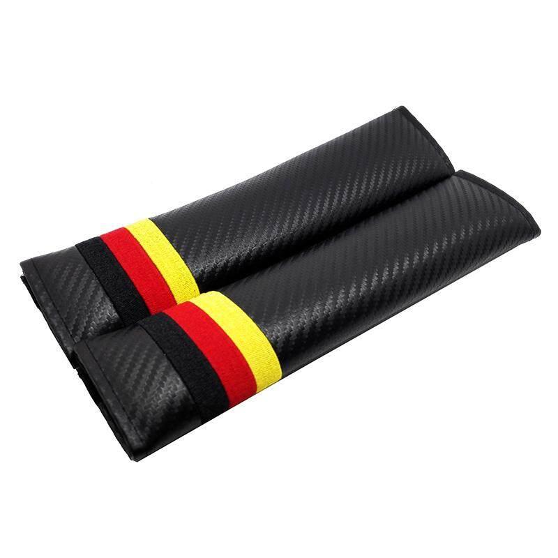 1 Pair Mobil Sabuk Pengaman Bantalan Penutup dengan Bendera Jerman Logo Sabuk Pengaman Mobil Bahu Perlindungan