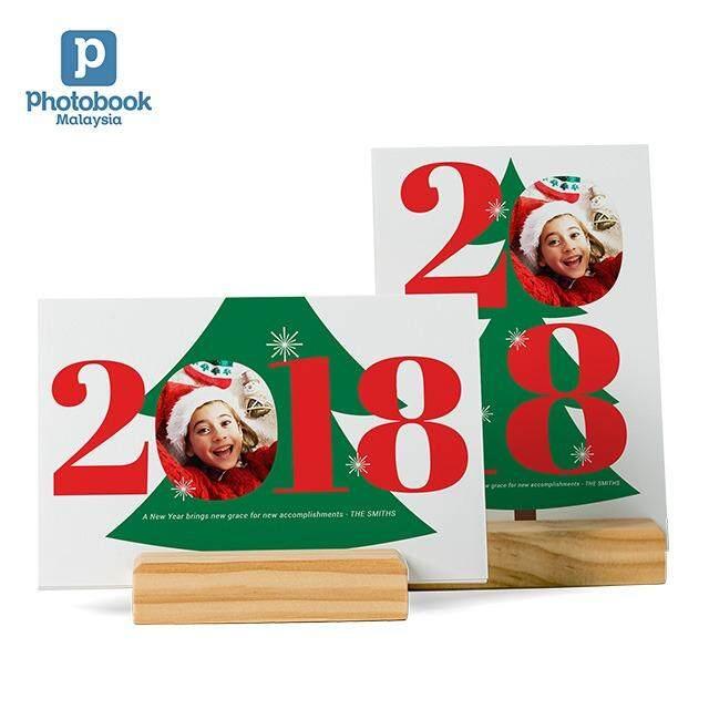 Photobook Malaysia Calendar Cards with Wood Stand