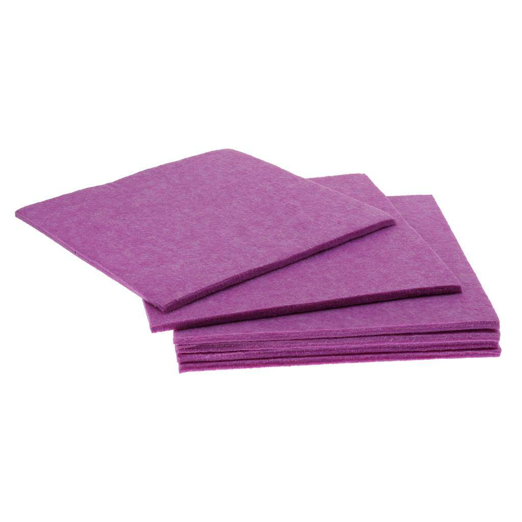 Miracle Shining 6pcs Acoustic Panel Sound Absorption Foam for Home Theater Studio Purple