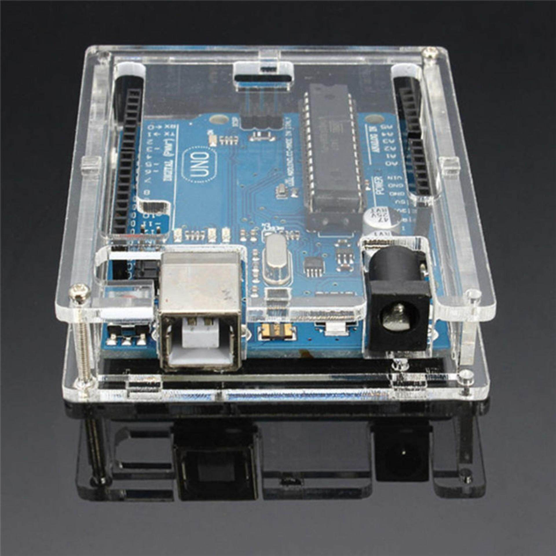 Transparent Case Acrylic Cover Shell Enclosure Computer Box For Arduino UNO R3 Transparent Malaysia