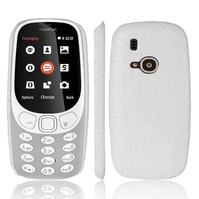 Pola Buaya Kulit Sampul Belakang Kasus Keras Sarung Telepon untuk Nokia 3310-Internasional