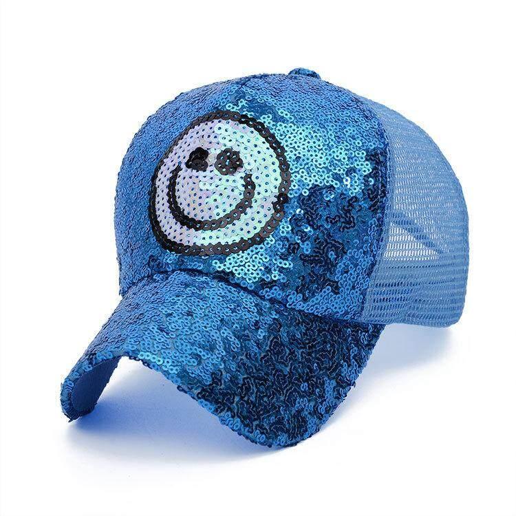 Penuh Manik-manik Bordiran Cap Topi Bisbol Santai Topi Jaring