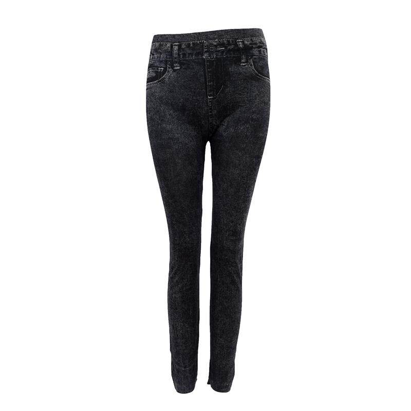 14aaf37a51d Women Denim Jeans Sexy Skinny Leggings Jeggings Tights Stretch Pants  Trousers - Black - Pattern Style