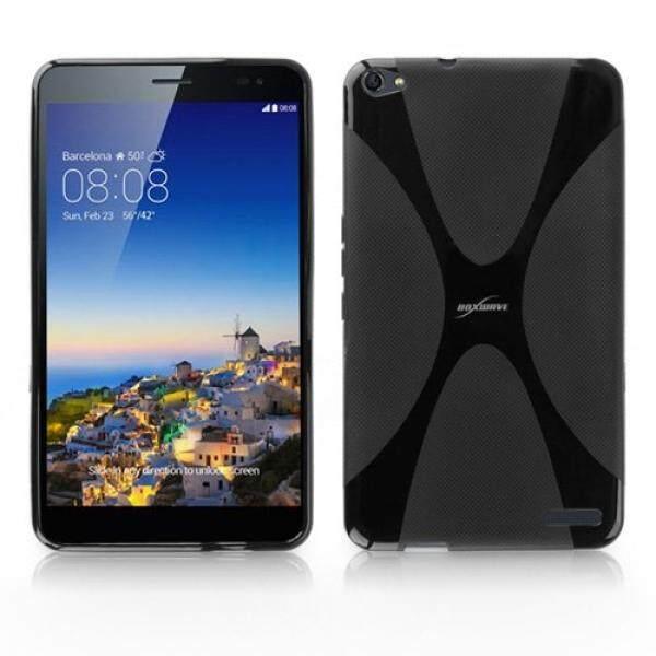 Smartphone Cases Cases BoxWave Huawei MediaPad X1 Case, BoxWave® [BodySuit] Premium Textured TPU Rubber Gel Skin Case for Huawei MediaPad X1 - Jet Black - intl