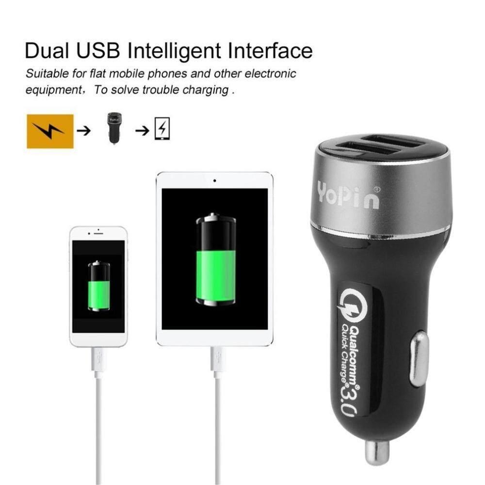 Kerui Dual USB Charge Cepat QC 3.0 Pengisi Daya Mobil untuk iPhone Samsung Telepon Seluler Pengisi