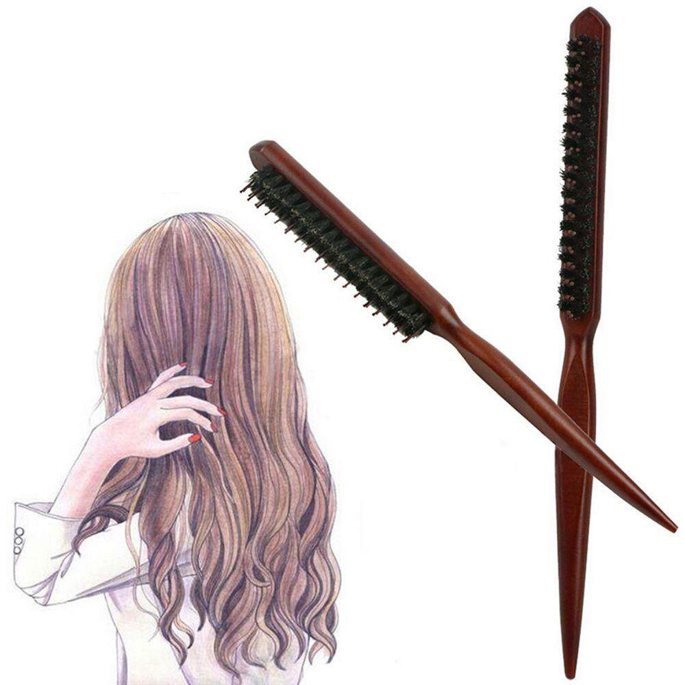 Fluffy Dish Hair Comb Bristle Hair Brush With Wood Handle Hairdressing Barber Tool For Home And Barbershop