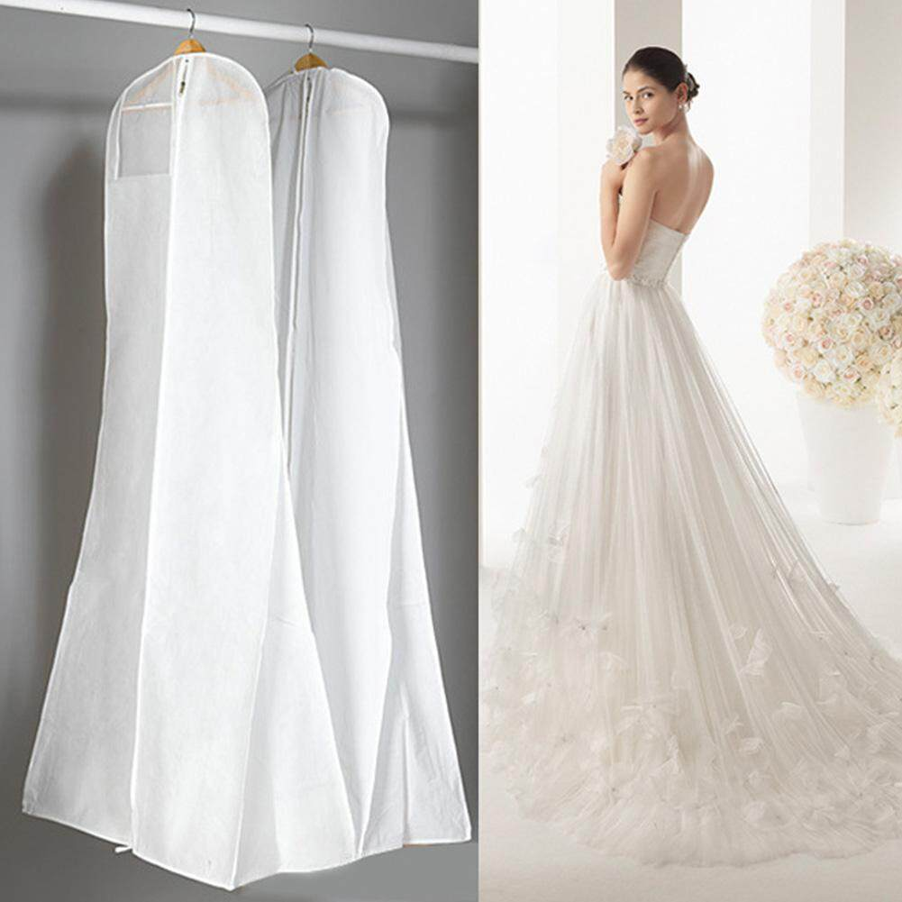 Liveon Clear Cover Suit Garment Cloth Protective Cover Dust Proof Cover Wedding Dress Hang Pouch St.