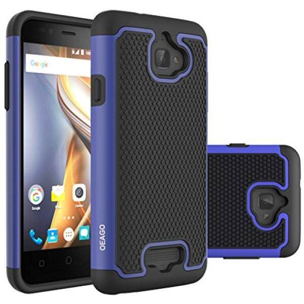 Smartphone Cases Cases OEAGO Hybrid Dual Layer Rubber Plastic Impact Defender Rugged Slim Hard Case Cover Shell for Coolpad-Catalyst - Blue - intl
