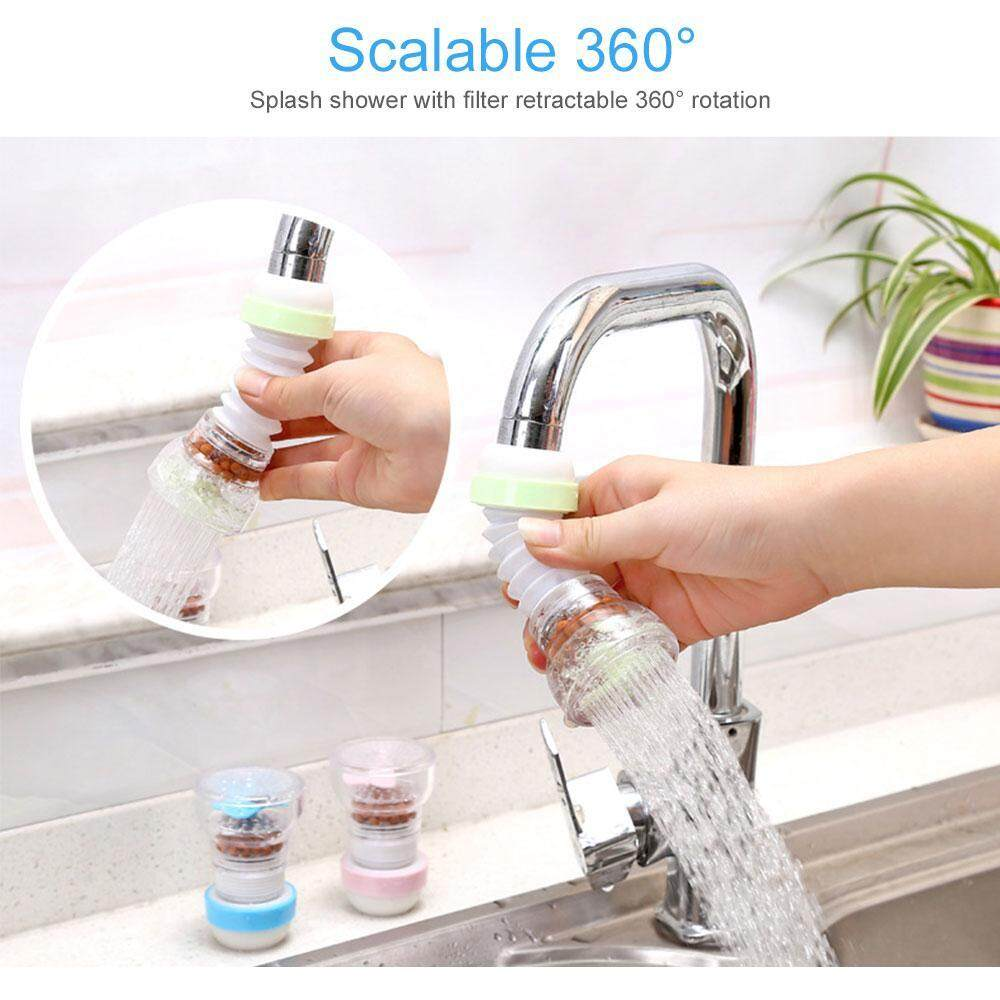 Leegoal Multifunctional Retractable Collapsible 360 Rotary Filter Splash Faucet Shower Head By Leegoal.