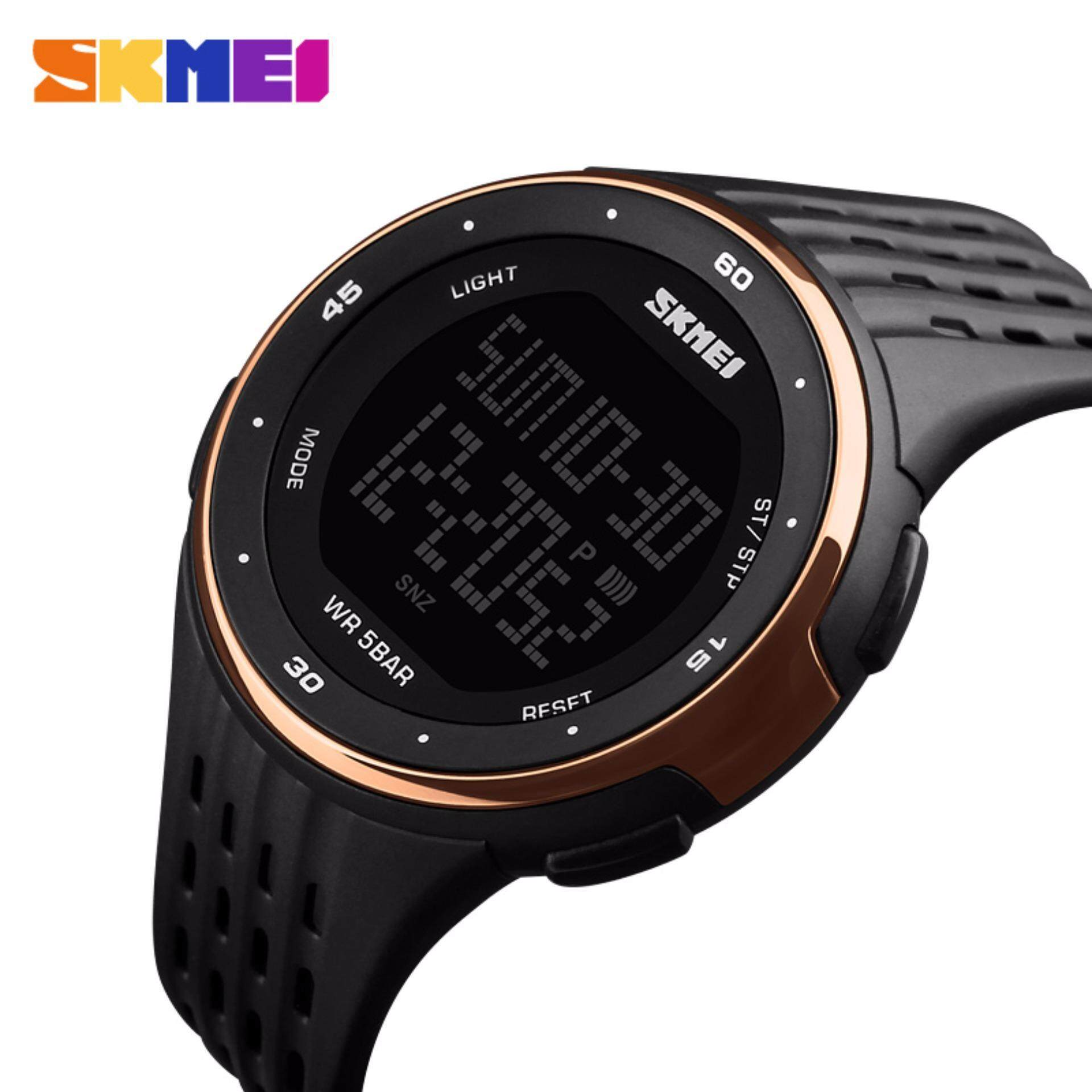 Luxury SKMEI Brand Women LED Digital Watches 50m Waterproof Military Sport Watches High end Men Fashion