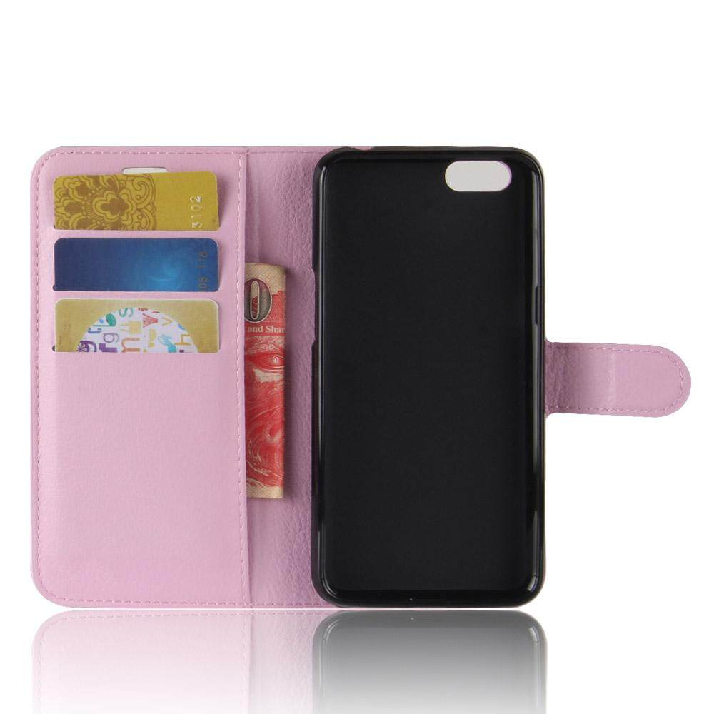 Leather Flip Cover Phone Case Wallet Card Holder For OPPO F7 Youth - 4