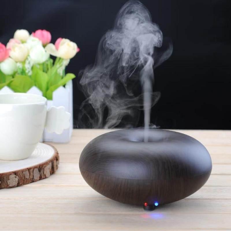 Qooiu Pelembab Ultrasonik Minyak Aroma Pendifusi Udara Aromaterapi Minyak Atsiri Diffuser Lampu LED Penyegar Udara