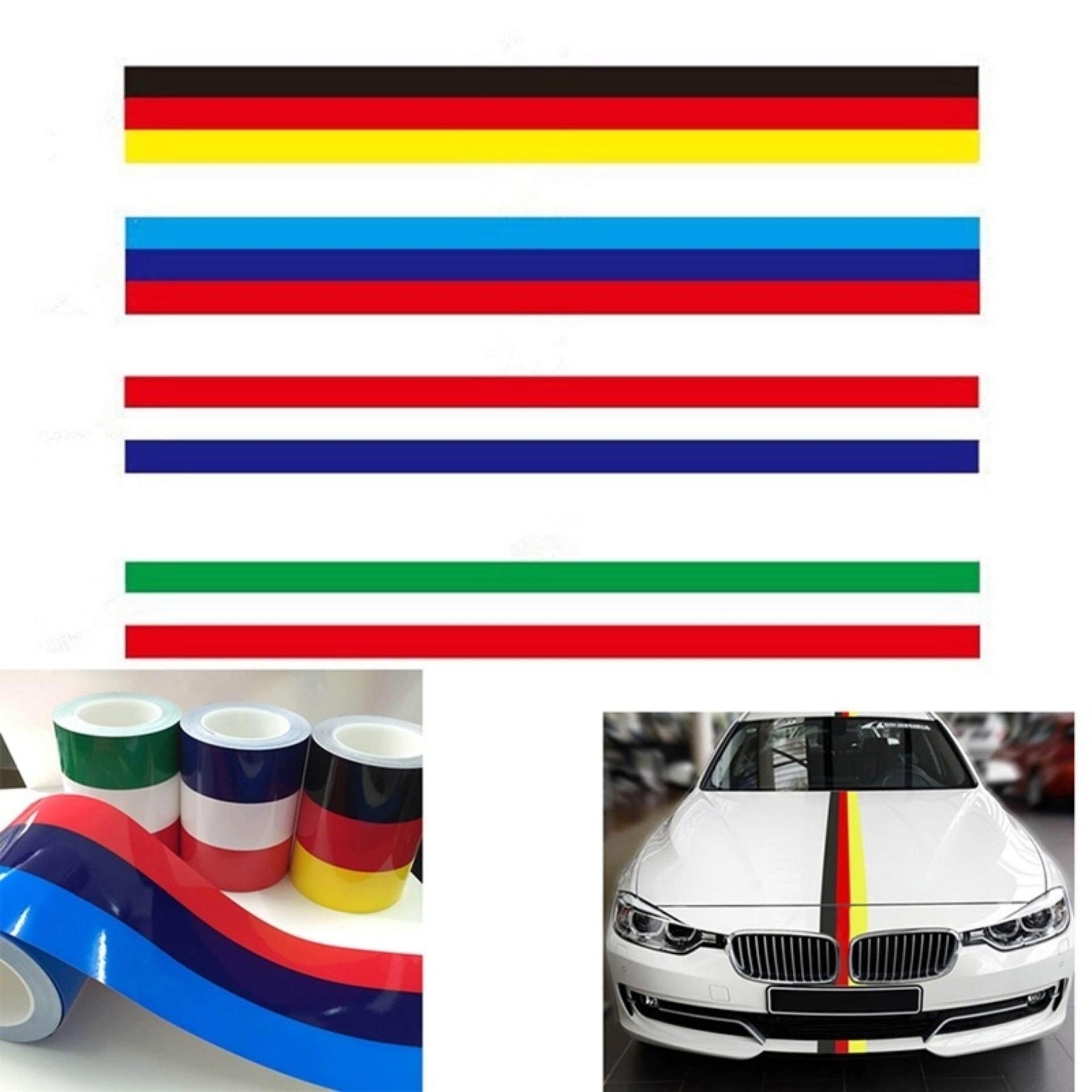 DIY untuk BMW Bendera Auto Garis Pinggang Hood Sakit Stiker Mobil Decal 1 M  Jerman- 0648adde4b