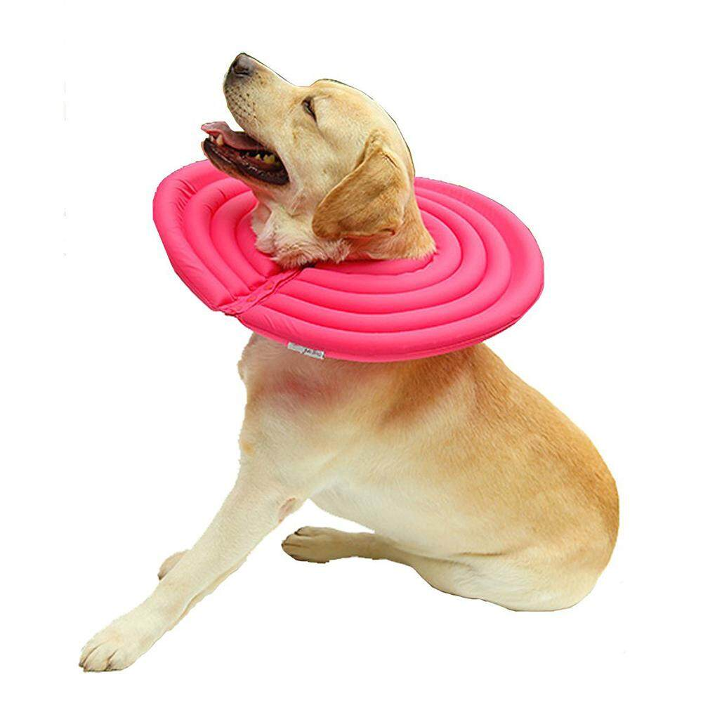 Doglemi Protective Recovery Pet Soft Cone Comfortable E-Collar For Dogs And Cats Water-Resistant, Rose Red L By Yoyonow.