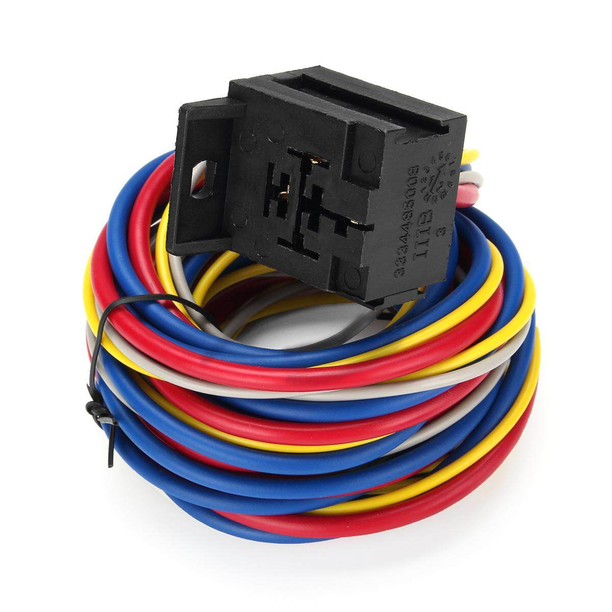 Features Electric Cooling Fan Wire Harness Kit Relay Circuit Breaker Wiring Detail Gambar Sbc Terbaru