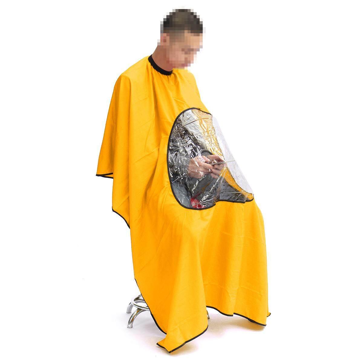 Rambut Transparan Salon Mantel Potong Tukang Cukur Topi Keramas Apron  Potong Rambut Kain-Intl 066057c41c