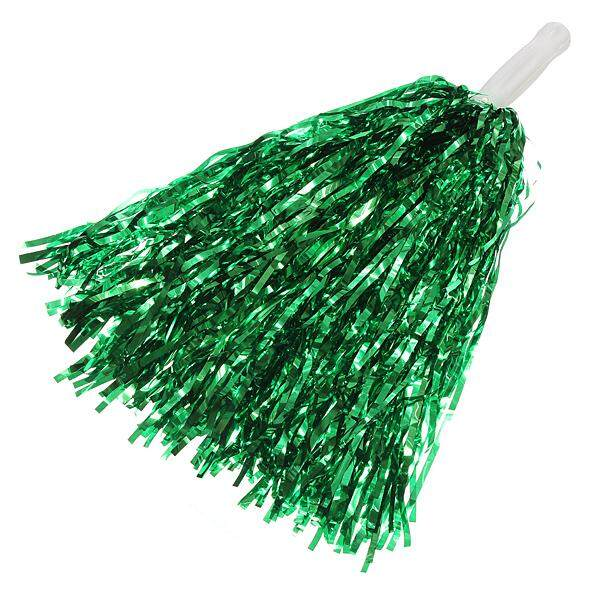 5pcs Metallic Cheerleader Cheer Dance Party Dress Sport Pom Cheerleading Ball Green By Moonbeam.