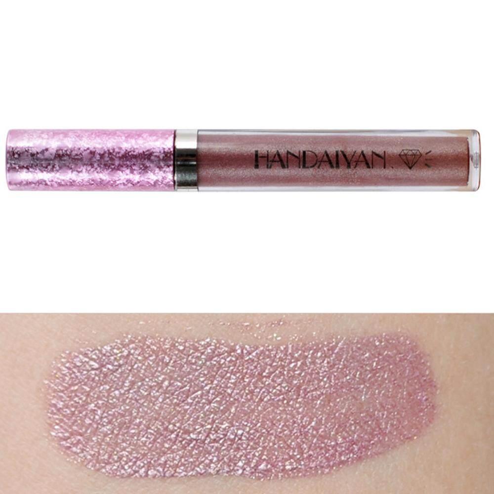 BlingBling Lipstik Pelembab Berkilau Pigmen Nude Metalik Tahan Lama Bibir Gloss Halus Raspberry Modis Jelas 6