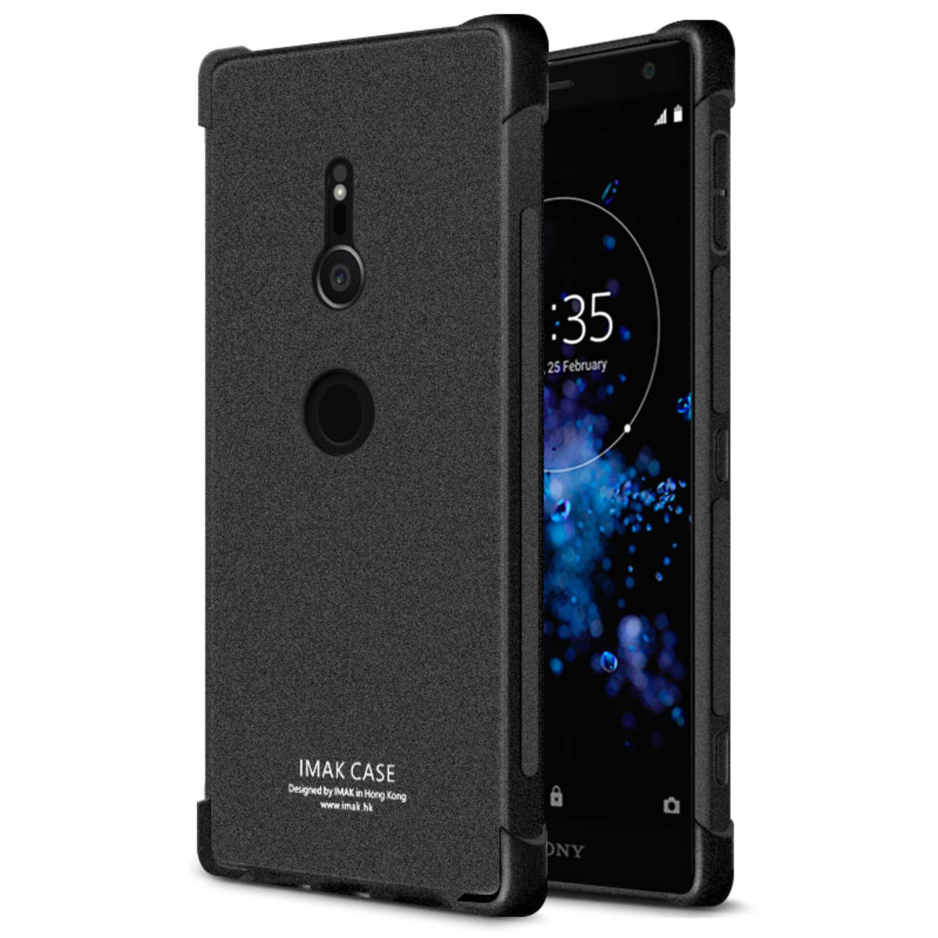Sony Xperia XZ2 Case with Screen Protector, IMAK Ultra-thin Slim Fit Nature Shock-resistant Shockproof Bumper Soft TPU Protective Shell Back Cover Phone ...