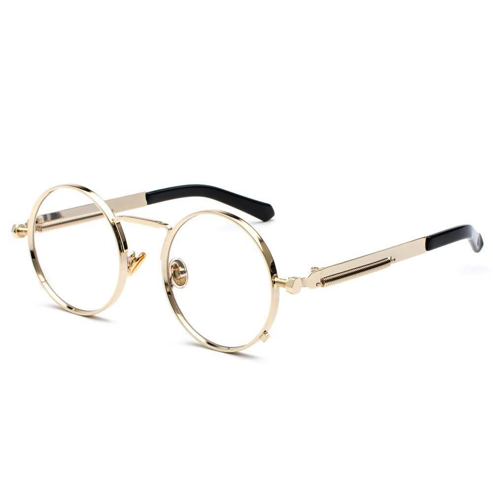 234b313ec9680 Vintage Steampunk Glasses Round Men Gold Fashion Retro Round Circle Metal  Frame Eyeglasses Frame for Women