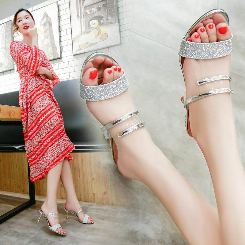 Pearl Big Size 34-46 Nubuck Leather High Heels Sandals Women Shoes Party Shoes Solid Shallow Fashion Summer Bowknot Shoes By Anron C.