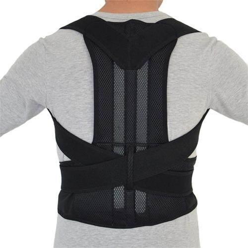 (Size: M - New Black)Adjustable Posture Corrector Back Support Shoulder Back Brace Belt