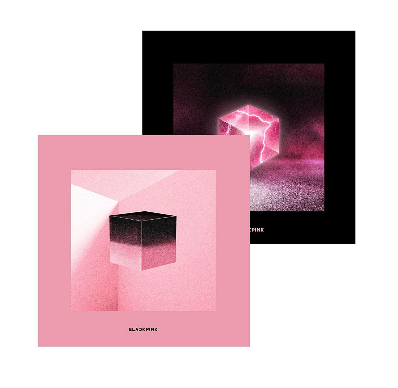 [YG] BLACKPINK - SQUARE UP [Black + Pink ver ] (1st Mini Album) : (DDU DU  DDU DU) Album + 1 Double-Side Foded Poster [kpop]