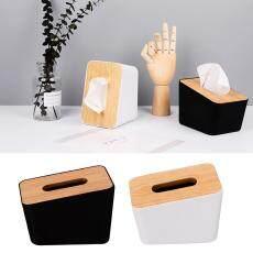 Dolity Simple Tissue Box Dispenser Cover Napkin Paper Holder Paper Towel Case Black