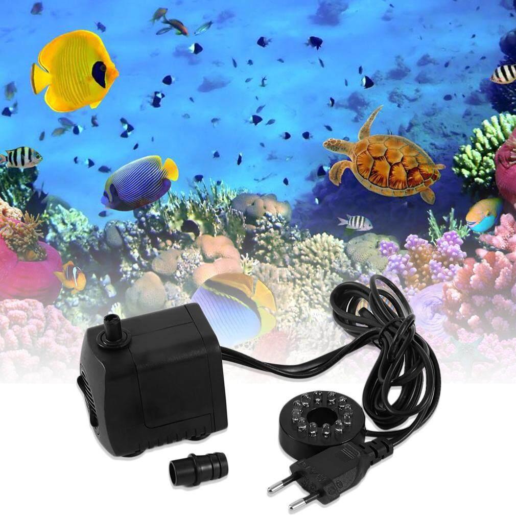 Allwin 15 W AC 220-240 V 12 LED Pompa Celup untuk Air Mancur Akuarium Tangki Ikan Hitam