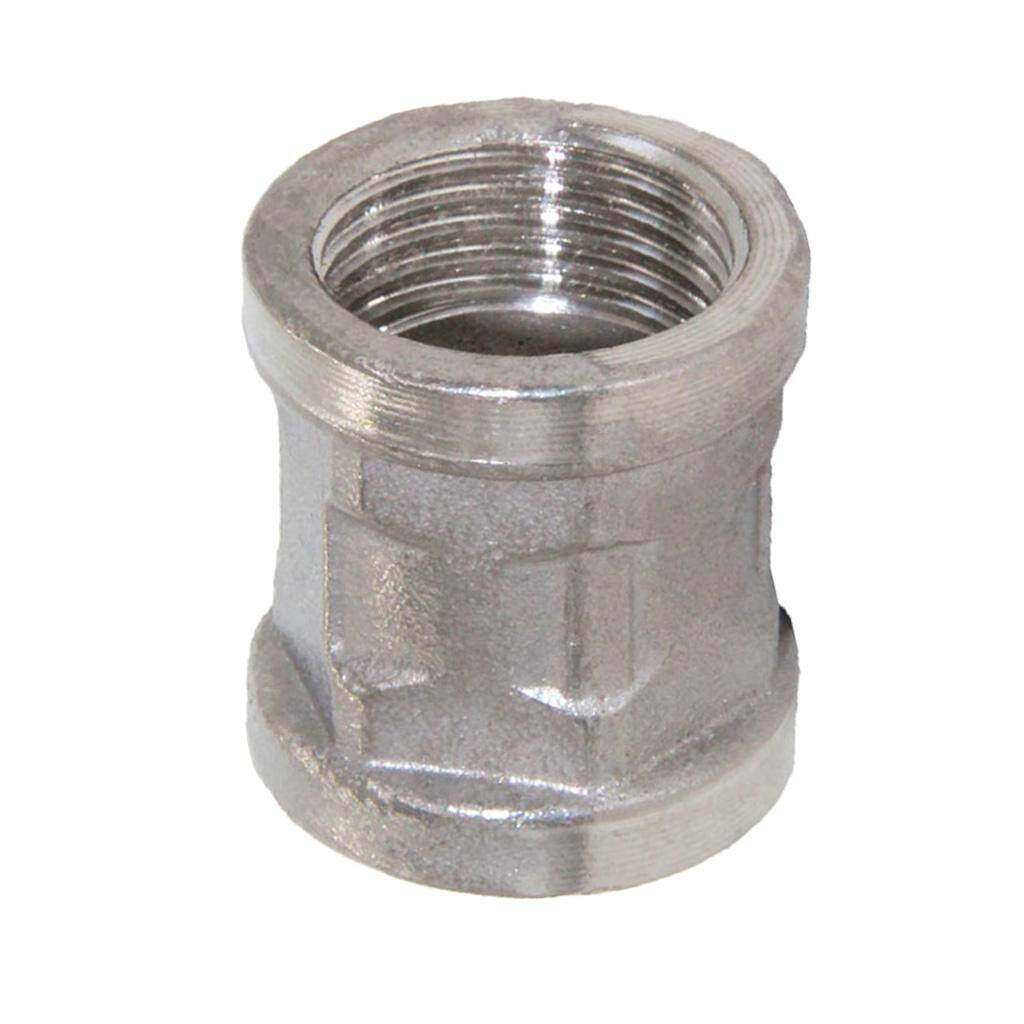 BolehDeals 1/2 Stainless Steel Female Thread Double Head Pipe Fitting Connector DN15