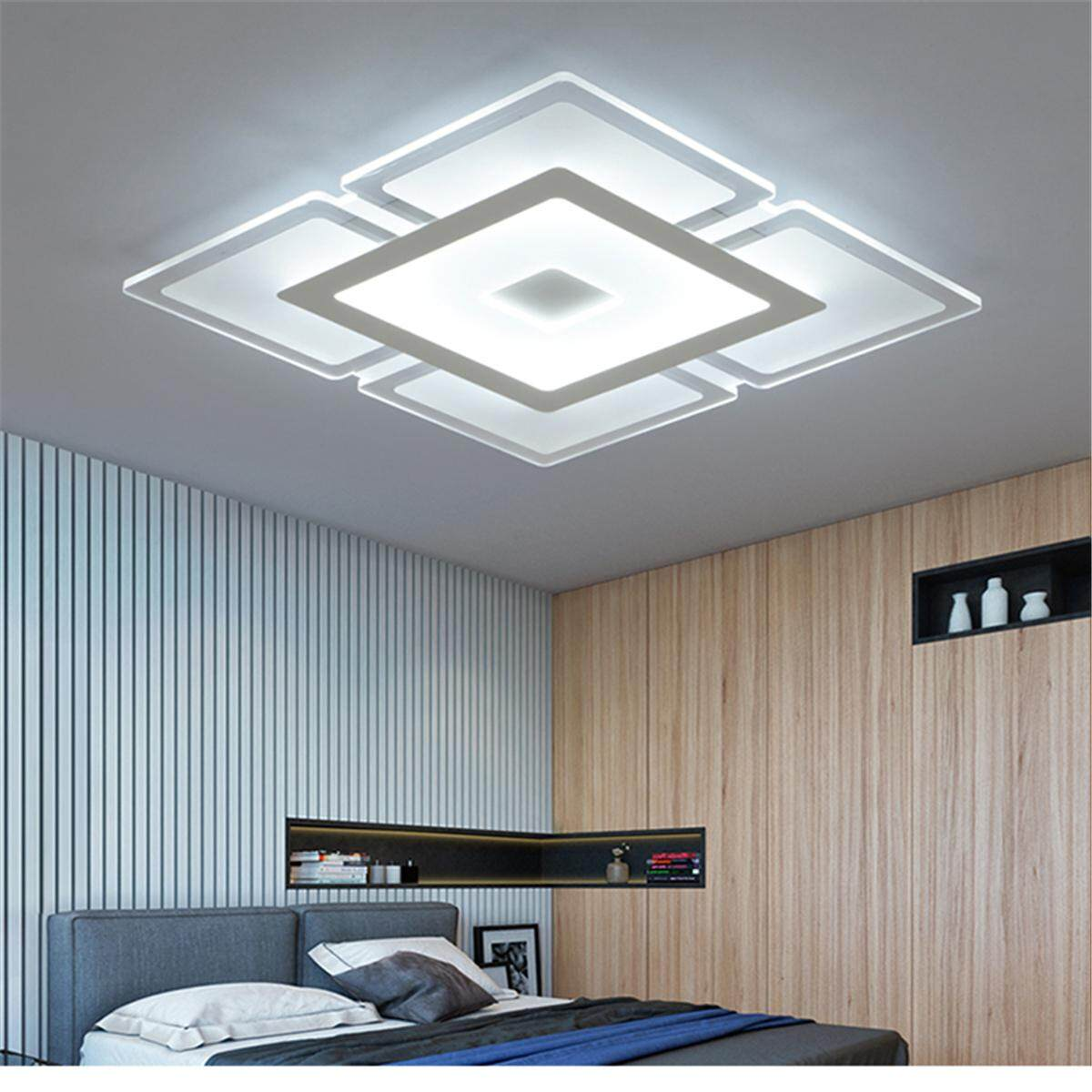 Rectangular Acrylic Modern LED Ceiling Light Living Room Bedroom Square Lighting#White Light