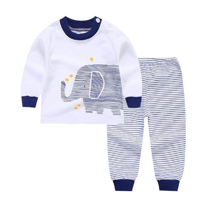 Ishowmall Kids Baby Boys Girls Clothes Top+pants Cotton Baby Pajamas Sleepwear By Ishowmall...