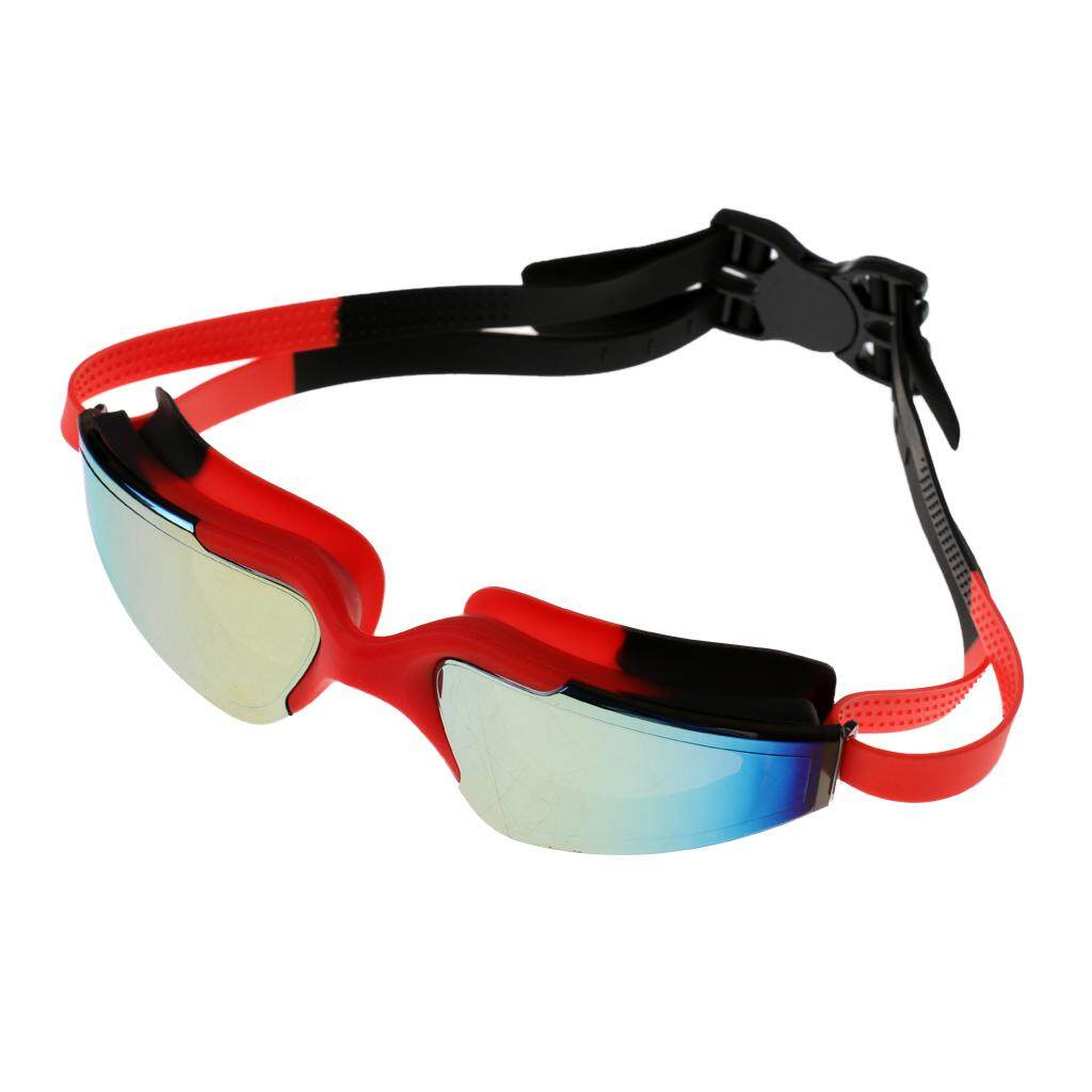 Miracle Shining Anti Fog UV Protection Waterproof Racing Swimming Goggles Red And Black