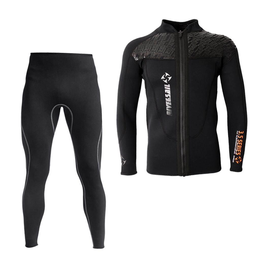Miracle Shining Men 3mm Neoprene Wetsuit Jacket Long Sleeve Wetsuit for Diving Canoeing