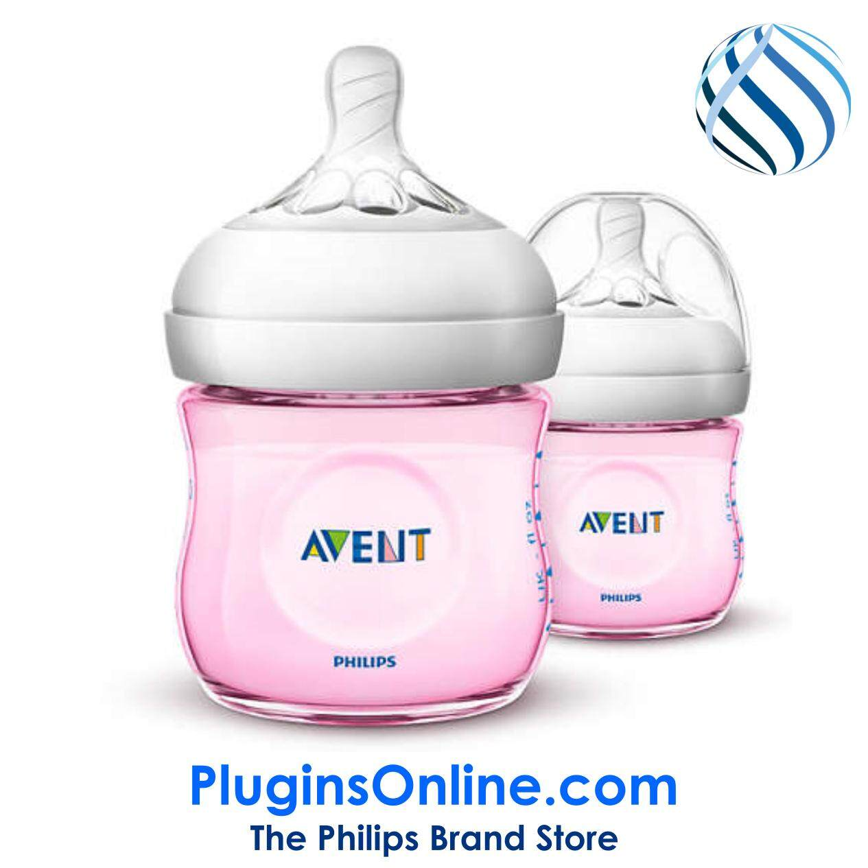 Philips Avent SCF691/23 Natural  Classic+ (pink) 4oz/125ml (twin) - Natural  2.0 (Extra Soft Teat)