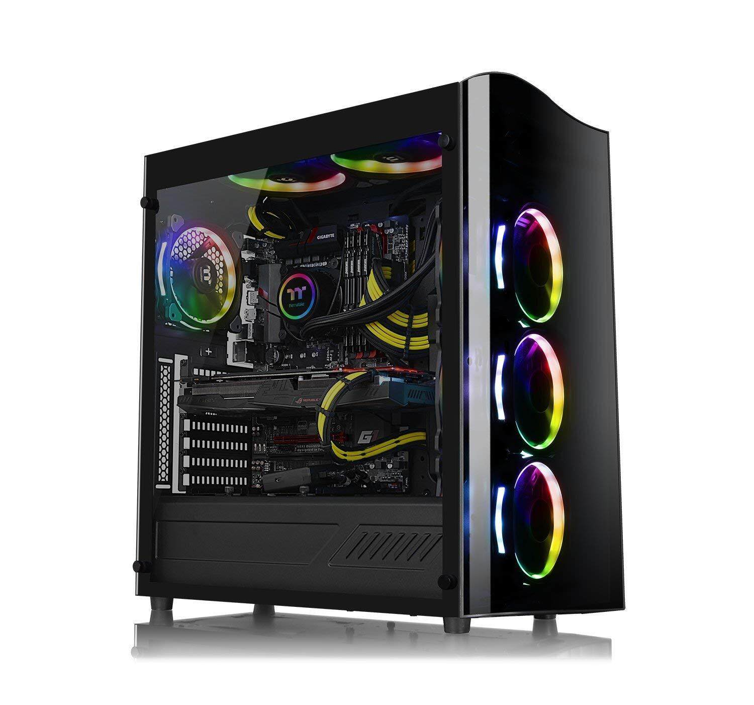 Thermaltake View 22 Tempered Glass SPCC ATX Modular Mid Tower Gaming PC Computer Case (4mm Tempered Glass, 1x Pre-Installed 12cm Fan) Malaysia