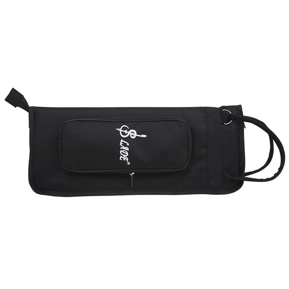 LADE Thicken Padded Drum Stick Bag Case Water-Resistant Oxford Cloth with Shoulder Strap