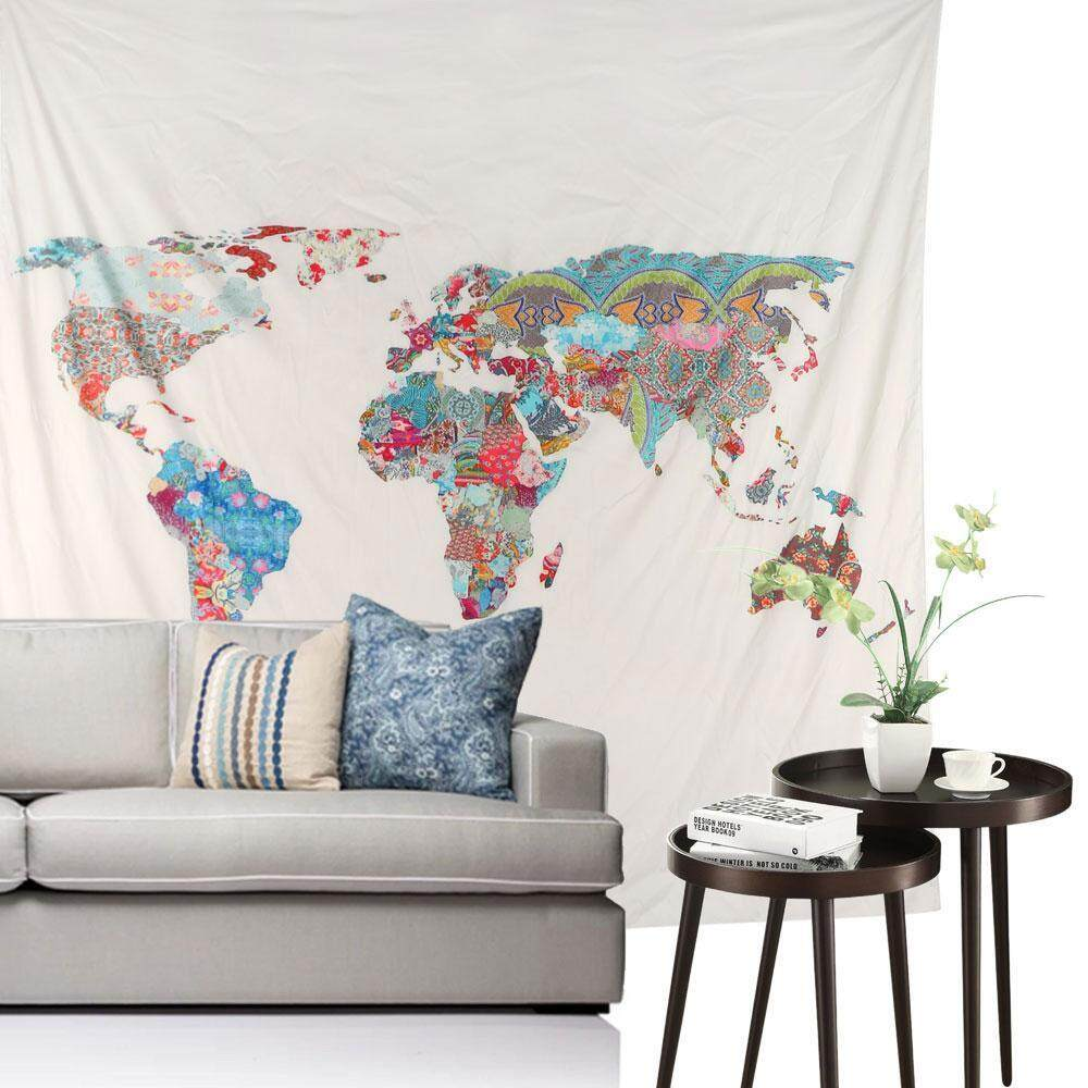 Wall stickers for sale wall decals prices brands review in aoyou watercolor world map tapestry colorful multi splatter abstract painting tapestry wall hanging art for living gumiabroncs Image collections