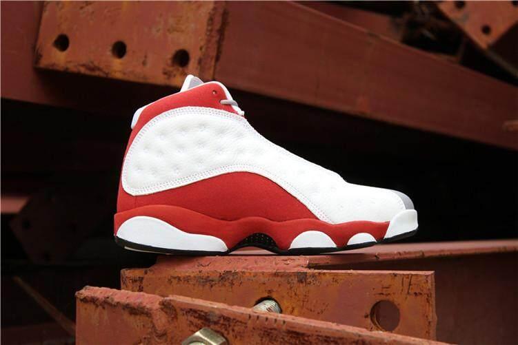 Nike Asli Stiker Michael Jordan 13 AJ Rendah Murni Uang Putih Abu-abu  Penjualan Global a4030bfc25