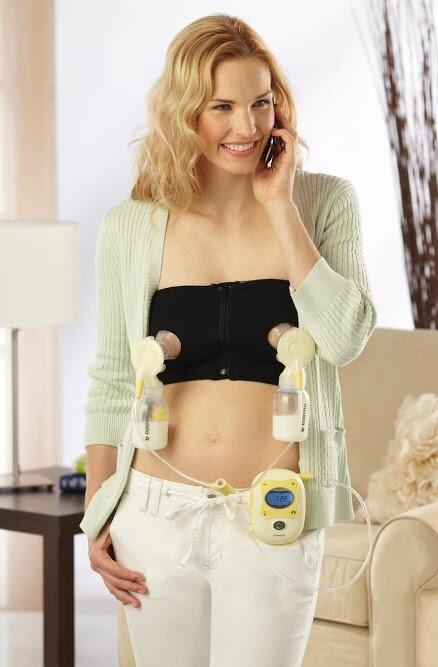 37160b2a76 Black) Medela Easy Expression Breast Feeding Hands Free Bustier ...