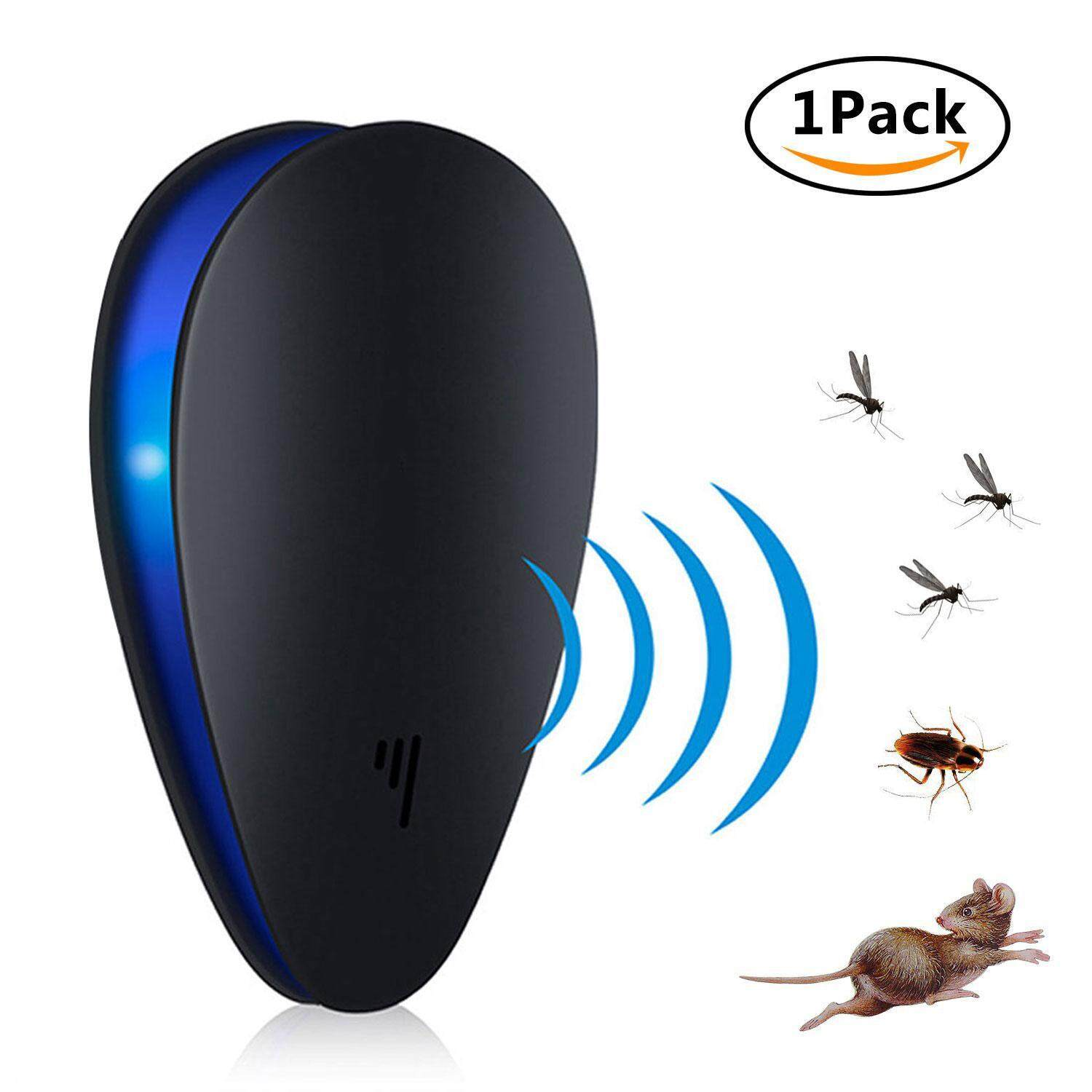 Vankel Ultrasonic Pest Repeller Pest Reject Enhanced Version, Mosquito Pest Control Plug In Rat Repellent Indoor For Insects, Ultrasonic Anti Mosquito Rat Mouse Cockroach Pest Insect Repellent ,uk Plug(black) By Vankel.