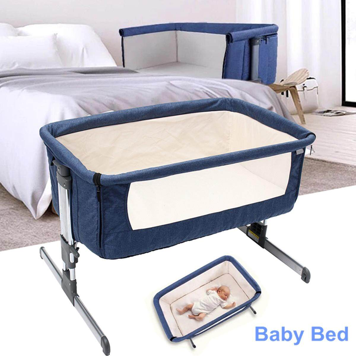 Cosy Time Beside Time Beside Co Sleeper Blue Bassinet Cot Crib Baby Bed By Ferry.