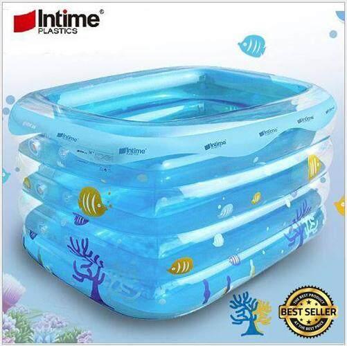 Intime 4 Rings Transparent Pool L (143 x 105 x 75 cm)
