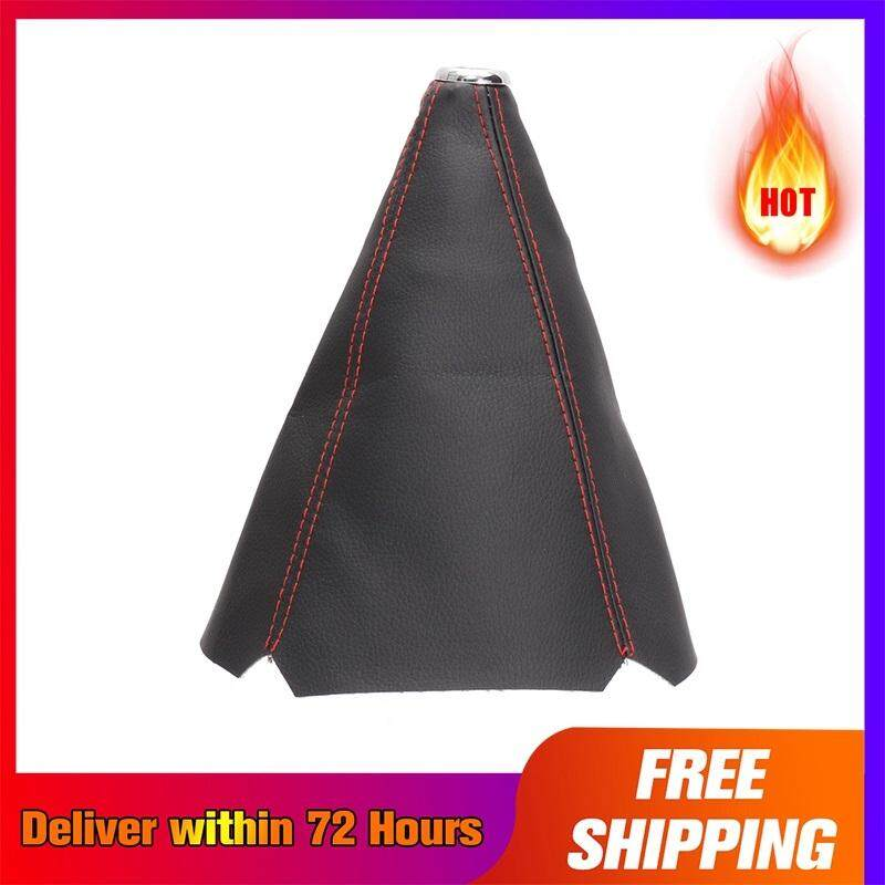 【 Free Shipping + Super Deal + Limited Offer】 Black Pvc Leather Gear Manual Shifter Shift Boot W / Blue Stitch Universal 4 (red) By The One..