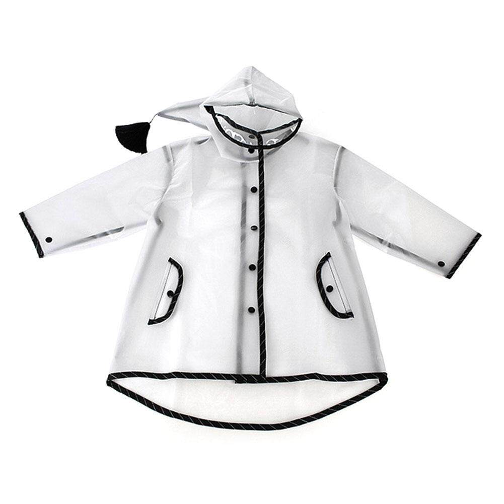 Star Mall Children Kids Boys Girls Raincoat Transparent Fairy Tassel Hat  Rain Coat Jacket Poncho 1406e21ee752