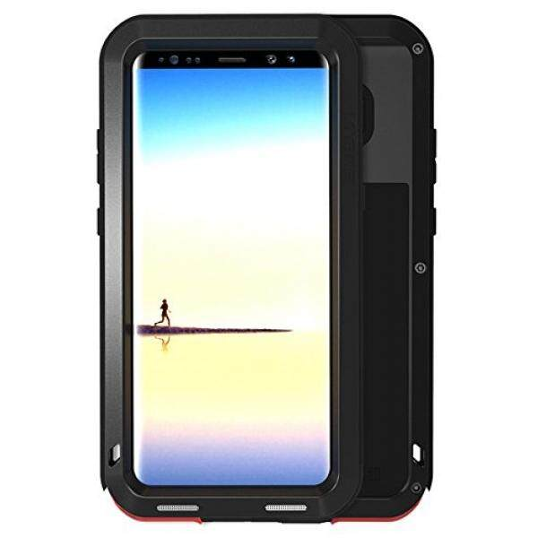 Smartphone Cases Case for Samsung Galaxy Note8 LOVE MEI Brand Powerfull Shockproof Dustproof Aluminum Metal Cover [Two-Years Warranty] Black - intl
